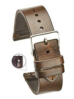 Hand Made Genuine Vintage Leather Watch Strap with Quick Rel