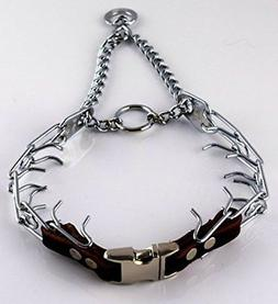 Herm Sprenger Chrome Prong Collar with Pawmark Quick-Snap Bu