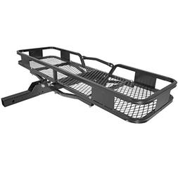 Titan Ramps Hitch Mounted Steel Cargo Carrier Basket 500 lb