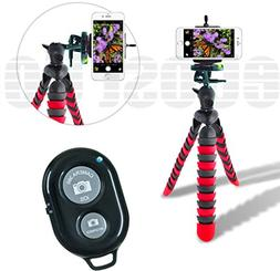 """Acuvar 12"""" Inch Flexible Camera Tripod with Wrapable Disc Le"""
