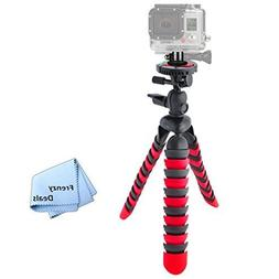 "12"" Inch Tripod w/ Flexible Spider Disc Legs with Quick Rele"