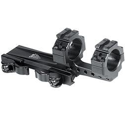 "UTG Integral 1"" Offset QD Ring Mount, 2 Top Slots, 100mmBase"