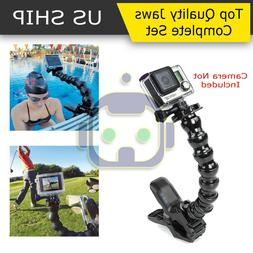 Jaws Flex Clamp Mount + Adjustable Neck for Gopro Hero 6 5 4
