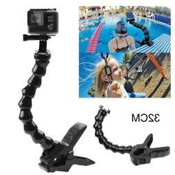 New Jaws Flex Clamp Mount with Adjustable Neck for GoPro Her