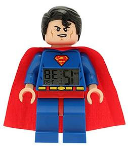 LEGO ' Super Heroes' Plastic Childrens Clock, Color:Superman