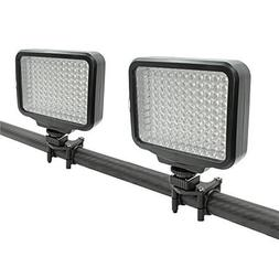Kit of 2 x 120 LED High Power Dimmable Lightweight Video Lig