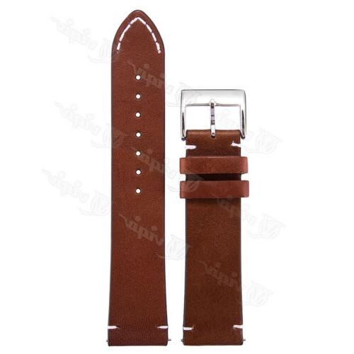 18 20 22mm Genuine Leather Strap Quick Release Watch For Fossil