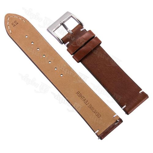 18 20 22mm Men's Genuine Leather Release Watch Band For Fossil