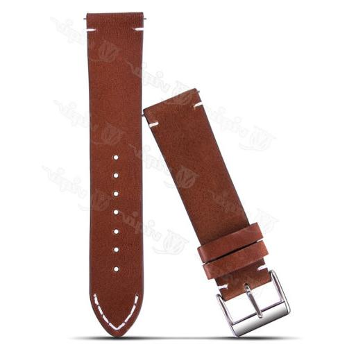 18 20 Genuine Leather Release Wrist Watch