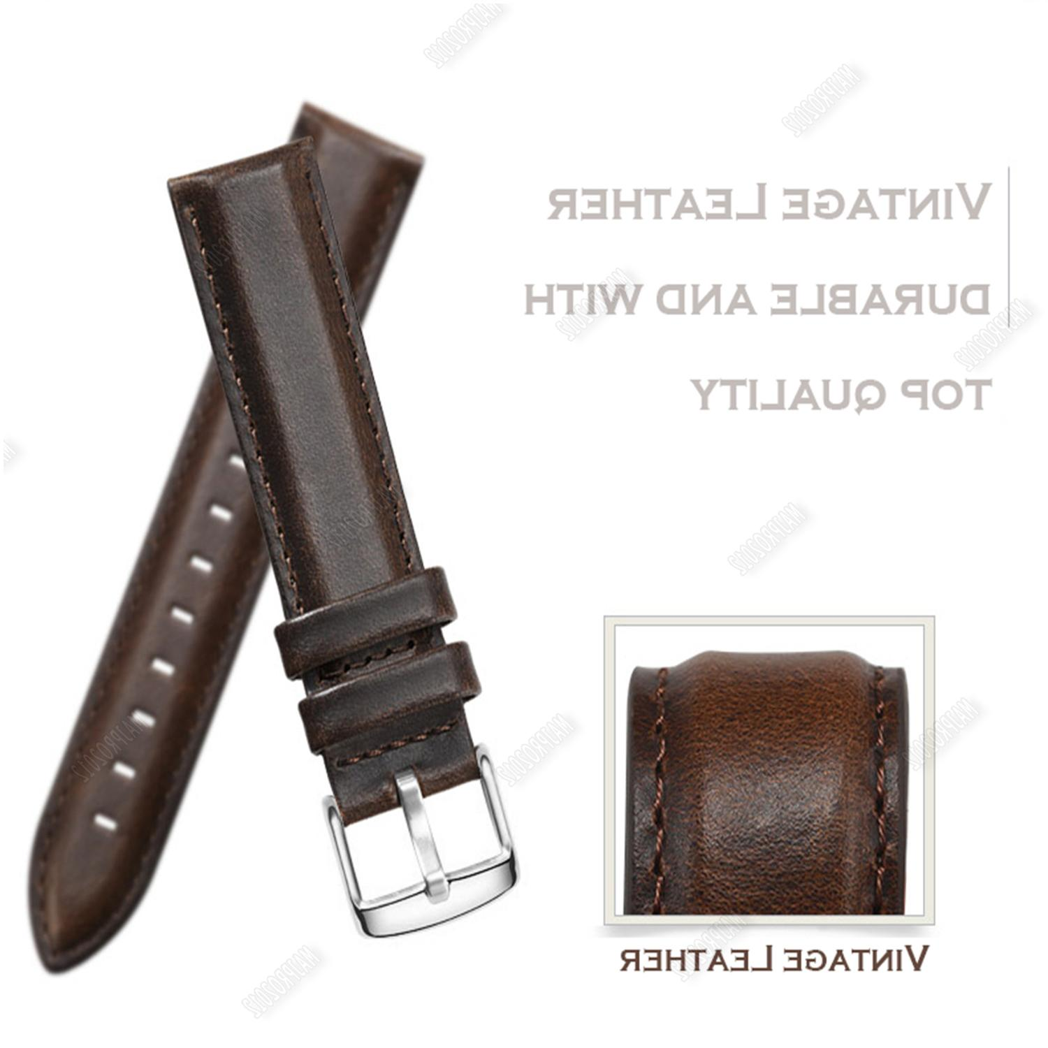 18 20 Retro Leather Strap Watch Quick Release