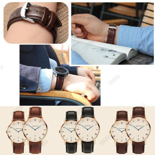 18 22mm Release Leather Wrist Strap For Smart Watch