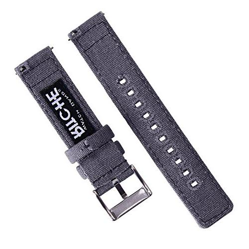 18mm Canvas Watch Band Watch Straps for Women