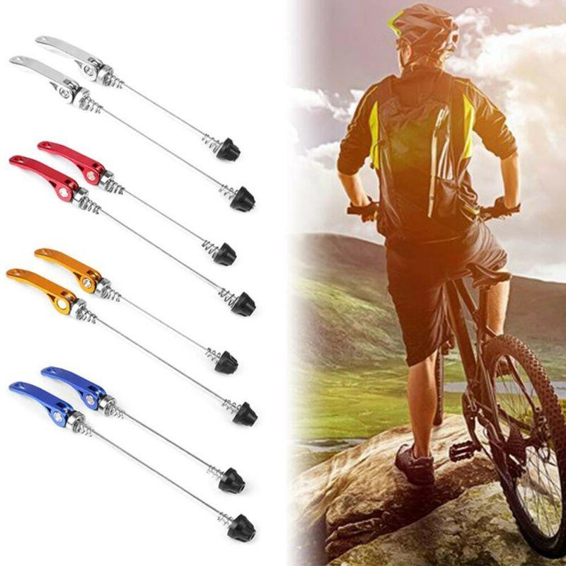 2 X Mountain Wheel Lever Bolt Bicycle Shaft~