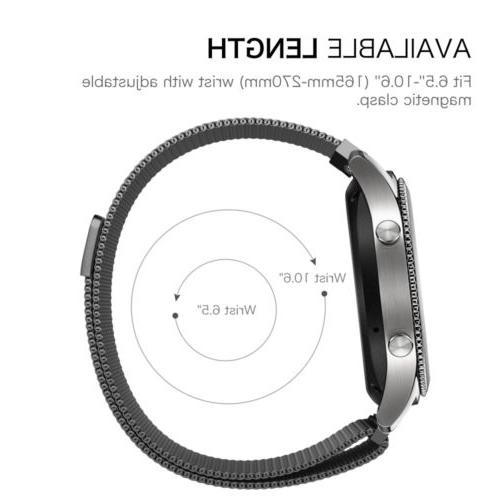 Fintie 20mm/22mm Quick Release Watch Band W/Milanese Close