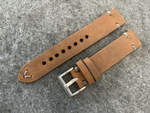20mm BROWN Vintage Leather Watch Quick