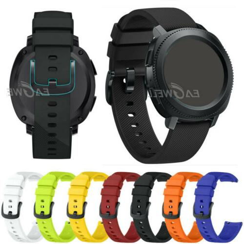 20mm quick release sports soft silicone watch