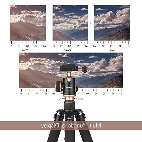 Andoer 53cm/21 Travel Mini Tabletop Tripod Ball Head Release Plate Nikon Sony DSLR Camera Smartphone DV