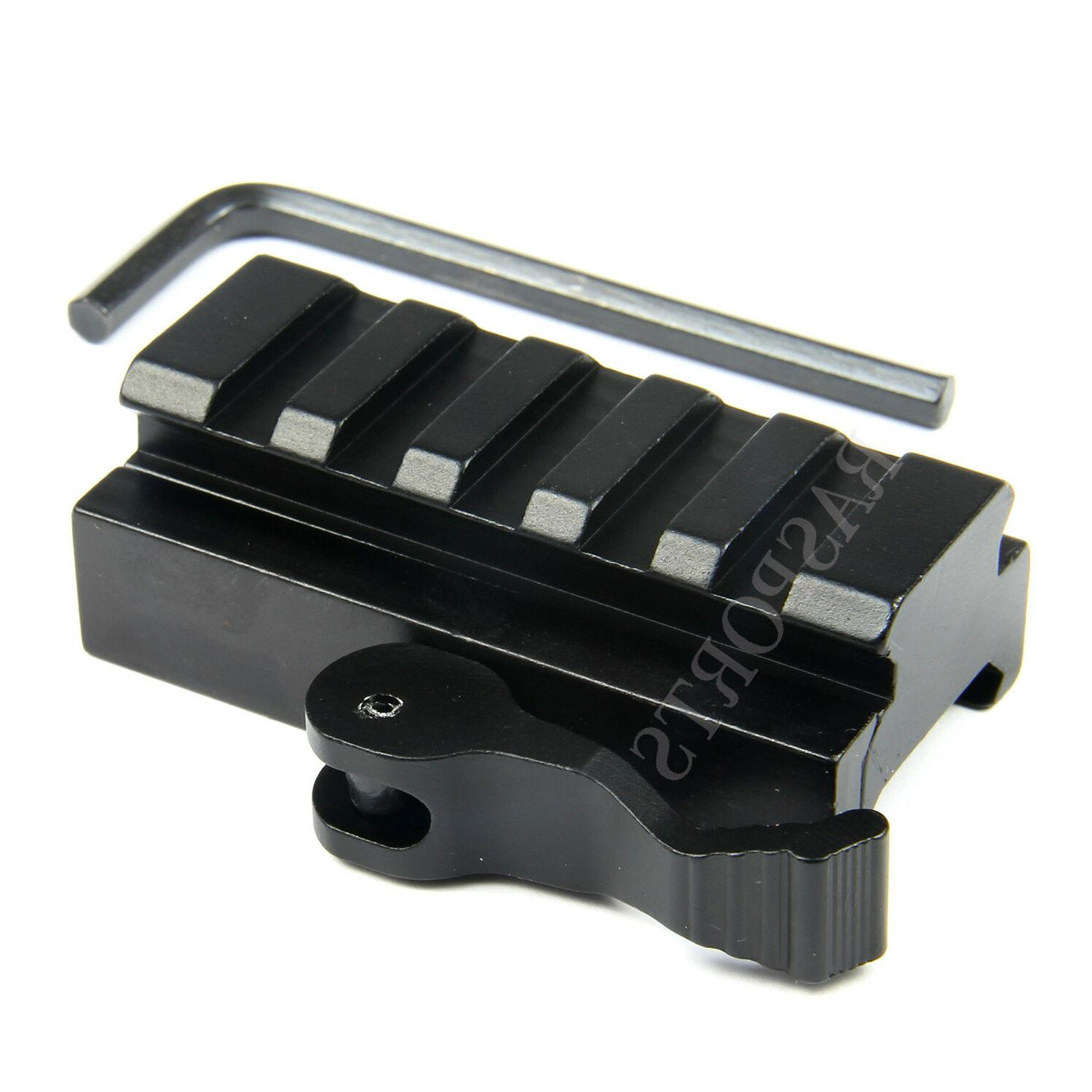 "5-Slot Quick Release Detach QR QD 1/2"" Riser Mount for Picat"
