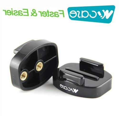 2x Quick Release QR Tripod Mount  for GoPro HERO3+ 3 2 1 Cam