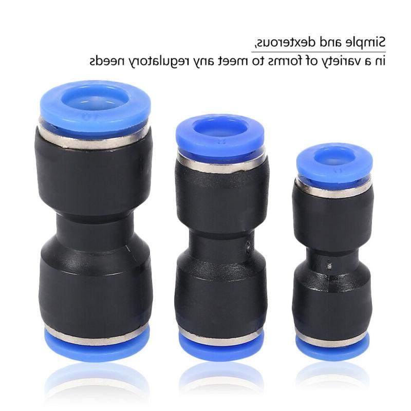 Pneumatic Push Connectors Quick Release Air Line Fittings 1/