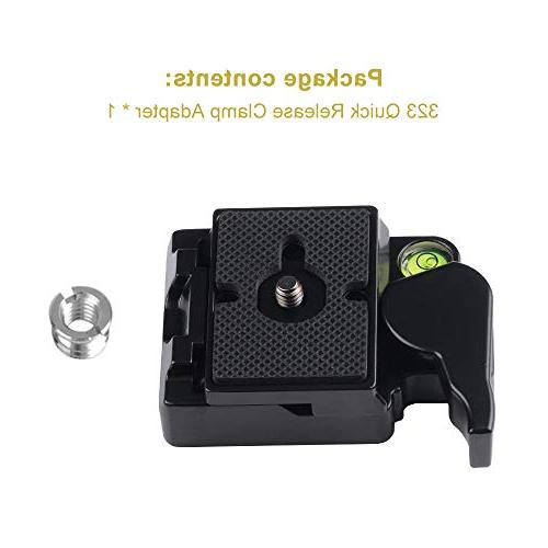 UTEBIT Camera Quick Release Plate Bubble Level with 3/8 Mount Sony