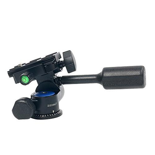 YaeCCC Handle Hydraulic with Release Plate for Tripod
