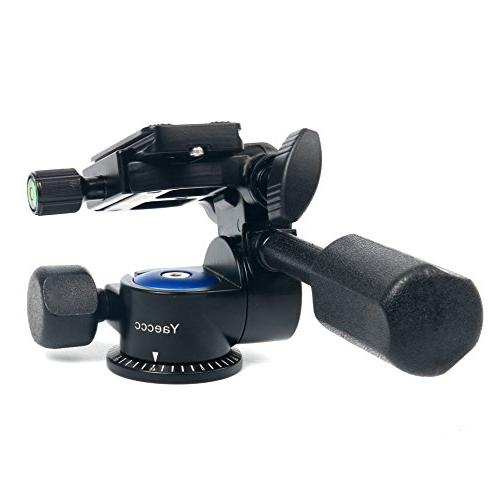 YaeCCC 360°single Handle Damping Three-dimensional with Quick Release for Tripod