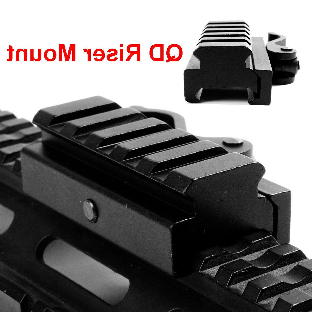 5 QD Riser Quick Mount Adapter for 20mm Picatinny Rail Base