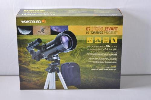 70mm travel refractor telescope with fully coated