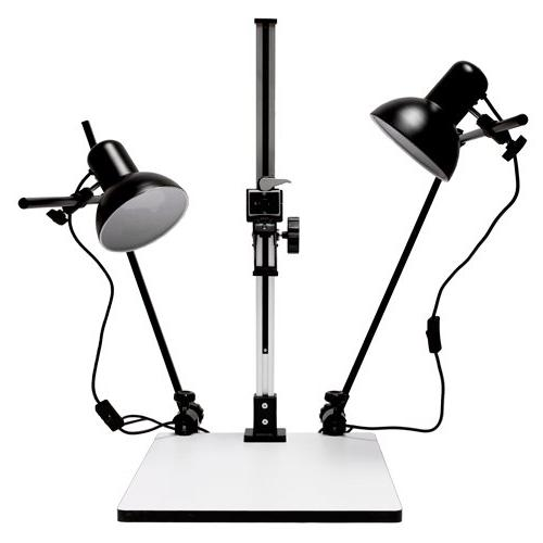 """Albinar High Load 28"""" Copy Macro Stand with 15.75""""x19"""" Base,"""