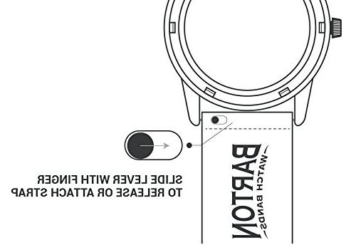 Barton Grain Watch Strap - - 22mm - Black