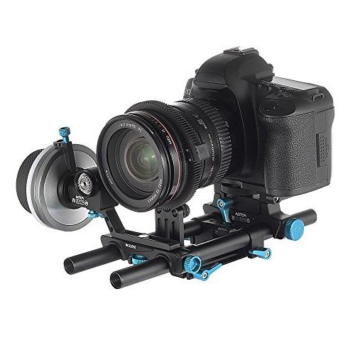 Fotga Rod with Cheese Baseplate and Lens Support 15mm Clamp for Box Nikon Sony Olympus Dslr Cameras