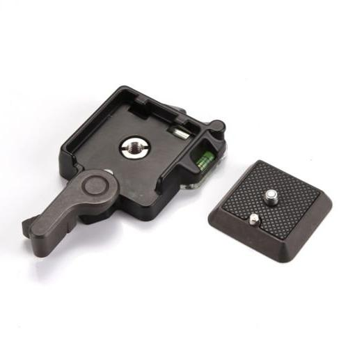 """Clamp Adapter Plate 1/4"""" Screw Tripod Ball Head Compatible"""