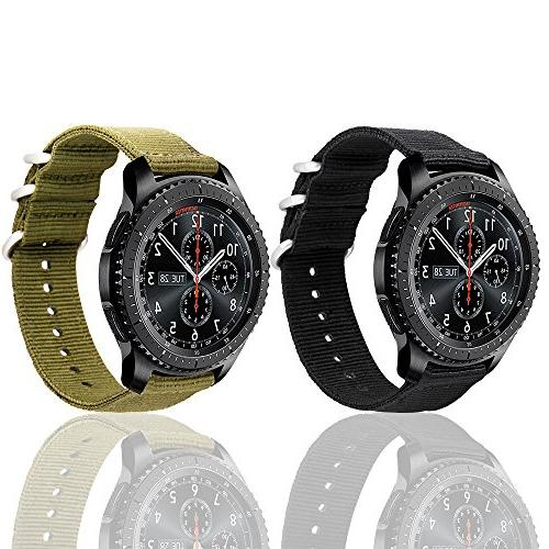 Loxan Gear S3 with Quick 22mm NATO Premium Nylon Replacement band For S3 Gear Frontier Sports Pack