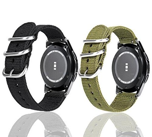 Loxan Gear S3 Bands with Quick Release 22mm Premium Nylon Replacement band For Samsung Gear S3 Classic Frontier Pack