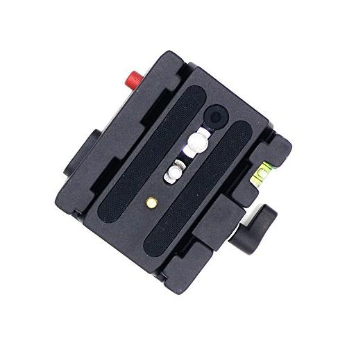 Manfrotto Connect Sliding Plate with 1/4'' and Camera Fixing Screws