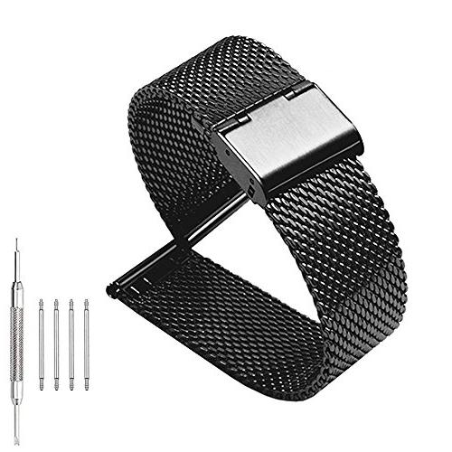 Milanese Mesh Stainless Steel Strap with Hook Buckle 22mm Cl