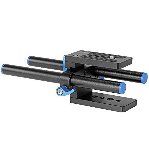 Neewer Rail Rod Baseplate with Quick Release Plate Follow Rig System