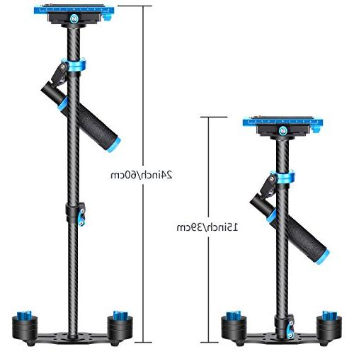 """Neewer Handheld Stabilizer with Release 1/4"""" and 3/8"""" and Video to 6.6lbs/3kg"""