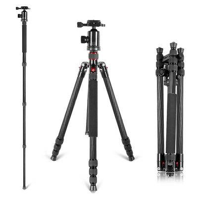 "Neewer Portable Carbon Fiber 66/"" Camera Tripod Monopod With 360 Ball Head"