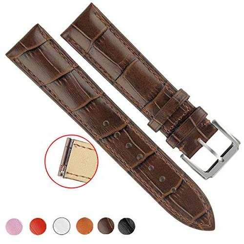OWNITOW Quick Release Leather Watch Bands, Genuine Leather W