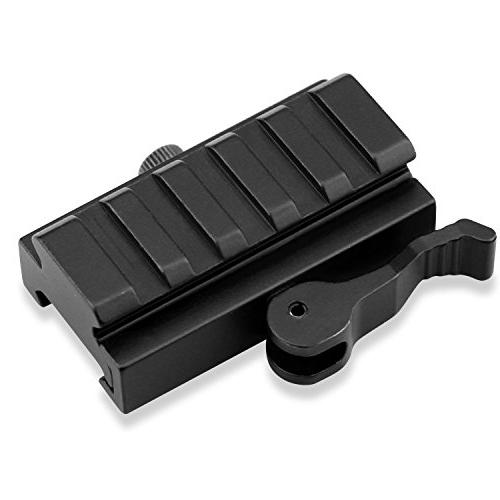 Picatinny 2 Pack Low Profile Rail Riser with QD Lock, Wrenchs, AR15 Red Dot Sight