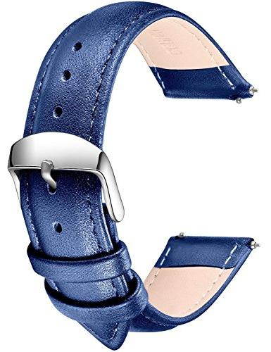 SONGDU Quick Release Leather Watch Band, Full Grain Genuine