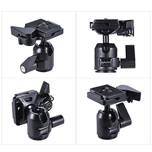 Andoer Veledge Aluminum Alloy Panoramic Head Ballhead Plate Base Max. for Nikon DSLR
