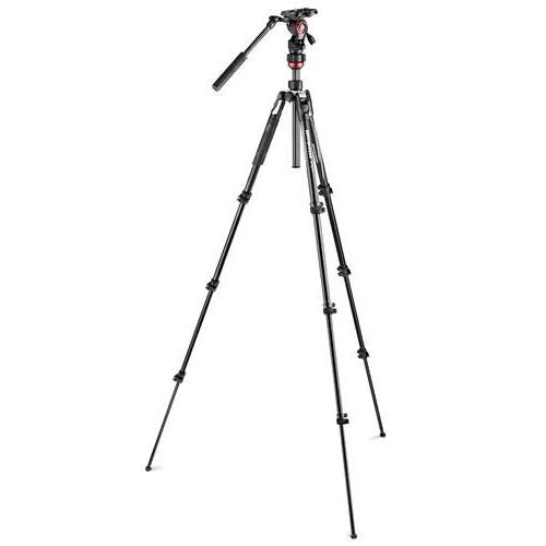 Manfrotto Befree Light Weight, Fluid Drag Professional Video Tripod, Black
