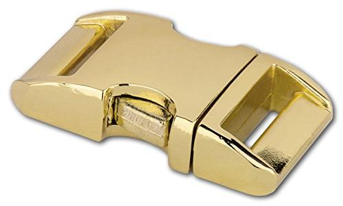 brass plated aluminum side release