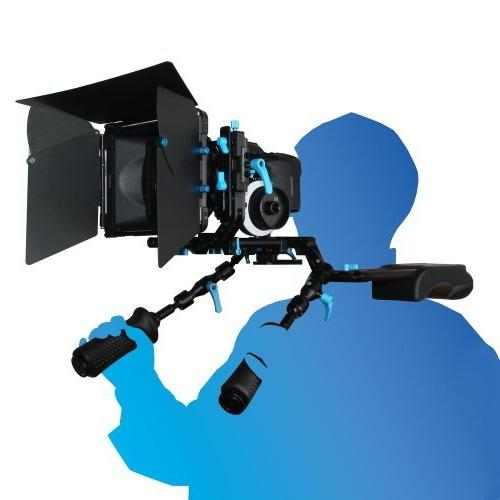 FOTGA DP3000 Handle Grip Block DSLR Rig, Lockable The Required Position and 4 Ponits to Adjust The Angle
