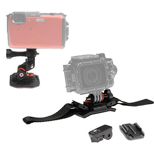 Essentials Action HDR-AS50, AS300, Camcorder with Flat Surface + Battery +