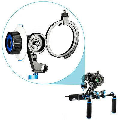 Neewer Follow Focus with Single 15mm Rod Clamp, Gear Ring Be