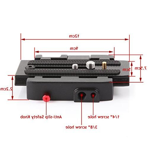Fotga Release Clamp Plate Manfrotto 500AH 503HDV 7M1W 577